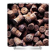 Assorted Champagne Corks Shower Curtain by Garry Gay