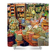 Assorted China Fishs Eddy New York City Shower Curtain