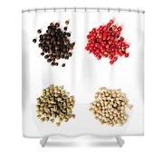 Assorted Peppercorns Shower Curtain