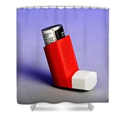 Asthma Inhaler Shower Curtain