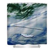 Aston Martin Hood Emblem 3 Shower Curtain