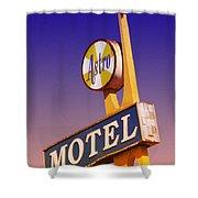 Astro Motel Retro Sign Shower Curtain