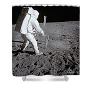 Astronaut During Apollo 11 Shower Curtain