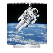 Astronaut Floating In Space Shower Curtain