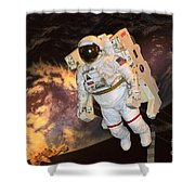 Astronaut In A Space Suit Shower Curtain