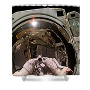 Astronaut Takes A Self-portrat Shower Curtain