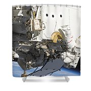 Astronauts Participate Shower Curtain