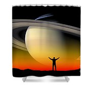 Astronomy Shower Curtain