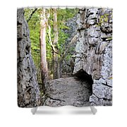 At A Cliff's Edge Shower Curtain