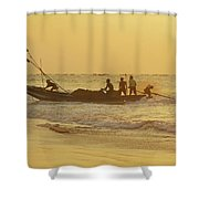 At Dawn In Puri Shower Curtain
