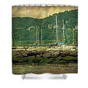 At Home In The Harbor - Atlantic Highlands  Nj Shower Curtain