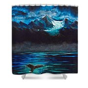 At Play Under The Glacier Shower Curtain