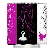 At The Ballet Triptych 2 Shower Curtain