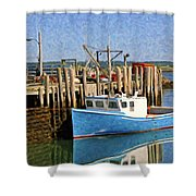 At The Dock Shower Curtain
