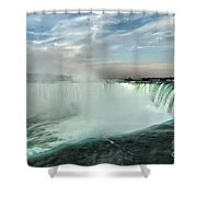 At The Edge Of Horseshoe Shower Curtain