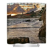 At The Edge Of The World Shower Curtain