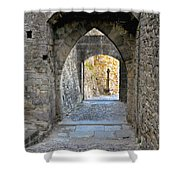 At The End Of The Passageway Shower Curtain
