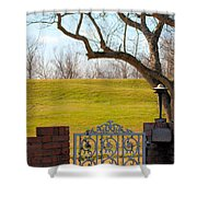 At The Levee Shower Curtain