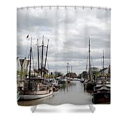 At The Old Harbor Shower Curtain