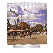 At The Prater - Vienna Shower Curtain