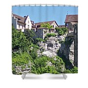 At The Rhine Falls Shower Curtain