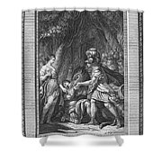 Atalanta And Meleager Shower Curtain