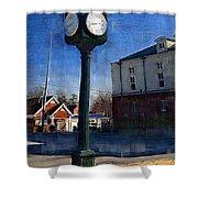 Athens Alabama City Clock Shower Curtain