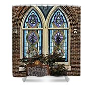 Athens Alabama First Presbyterian Church Stained Glass Window Shower Curtain