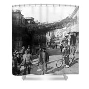 Athens Greece  C 1903 - Aeolos Street And The Stoa Of Hadrian Shower Curtain