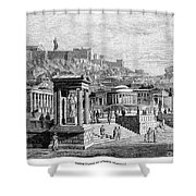 Athens: Marketplace Shower Curtain