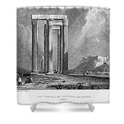 Athens: Olympian Zeus Shower Curtain