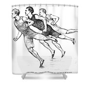 Athletics: Track, 1890 Shower Curtain by Granger