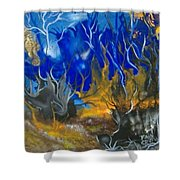 Atlantean Seascape Shower Curtain