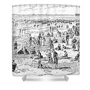 Atlantic City, 1890 Shower Curtain