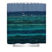 Atlantic Ocean Afternoon Shower Curtain
