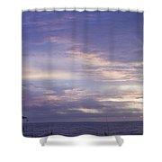 Atlantic Ocean Sunrise 3 Shower Curtain