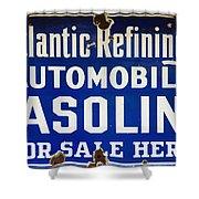 Atlantic Refining Co Sign Shower Curtain