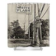 Atlantic White Flash Shower Curtain