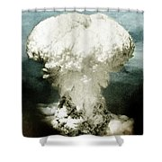 Atomic Bombing Of Nagasaki Shower Curtain by Science Source