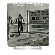 Atomic City Tennessee In The Fifties Shower Curtain
