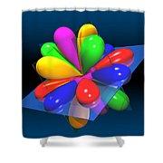 Atomic Orbitals Shower Curtain