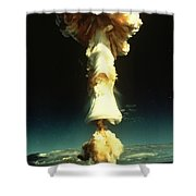 Atomic Testing Shower Curtain