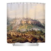 Attack On Stocks Kraall In The Fish River Bush Shower Curtain