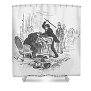 Attack On Sumner, 1856 Shower Curtain by Granger