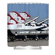 Attention Thunderbirds Shower Curtain