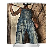 Attitude Shower Curtain by Stelios Kleanthous