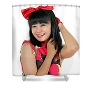 Attractive Young Woman  Shower Curtain