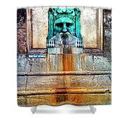 Au Non Potable A Fountain In Arles Shower Curtain