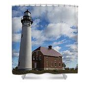 Au Sable Lighthouse 1 Shower Curtain