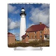 Au Sable Lighthouse 3 Shower Curtain